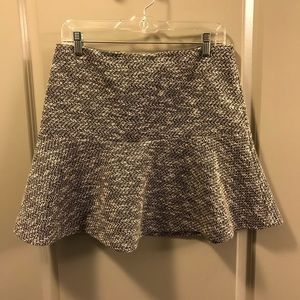 Loft tweed print skirt